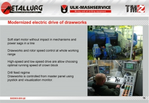 Modernized electric drive of drawworks